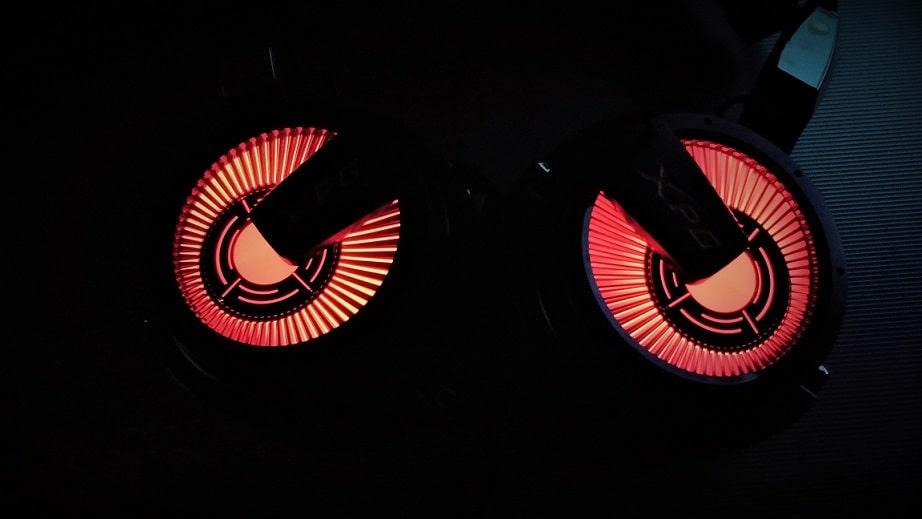 LED light in Dark headphones min