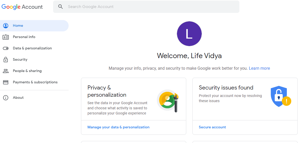 Login to Google Accounts