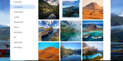 Select custom backgroud wallpaper on ChromeBook min