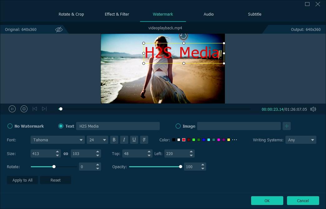 VideoSolo watermark option