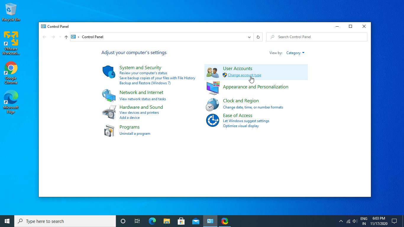 Windows 10 Chnage account type min