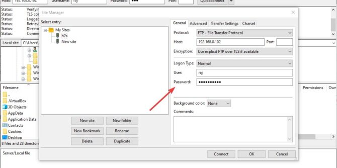 FileZilla Sitemanager password recovery