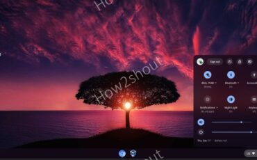 Cloudready ChromeOS notification area