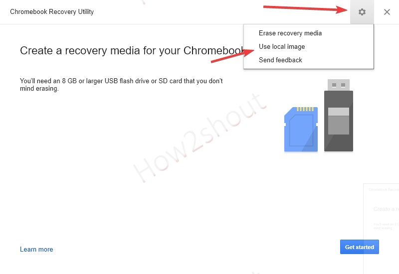 Select local chromeOS cloudready image min