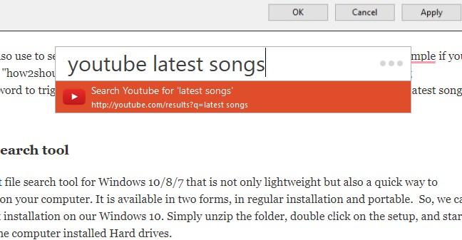 Youtube Listary