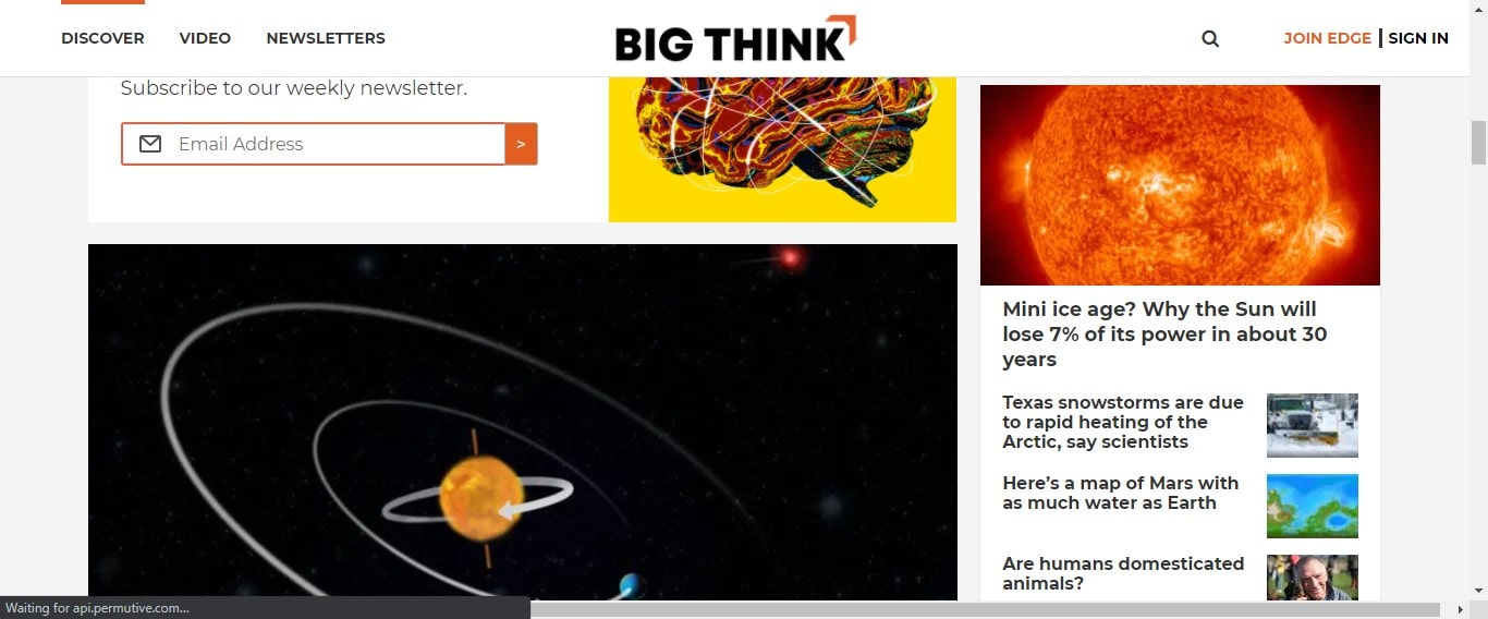 BIgthink cool website with fun facts
