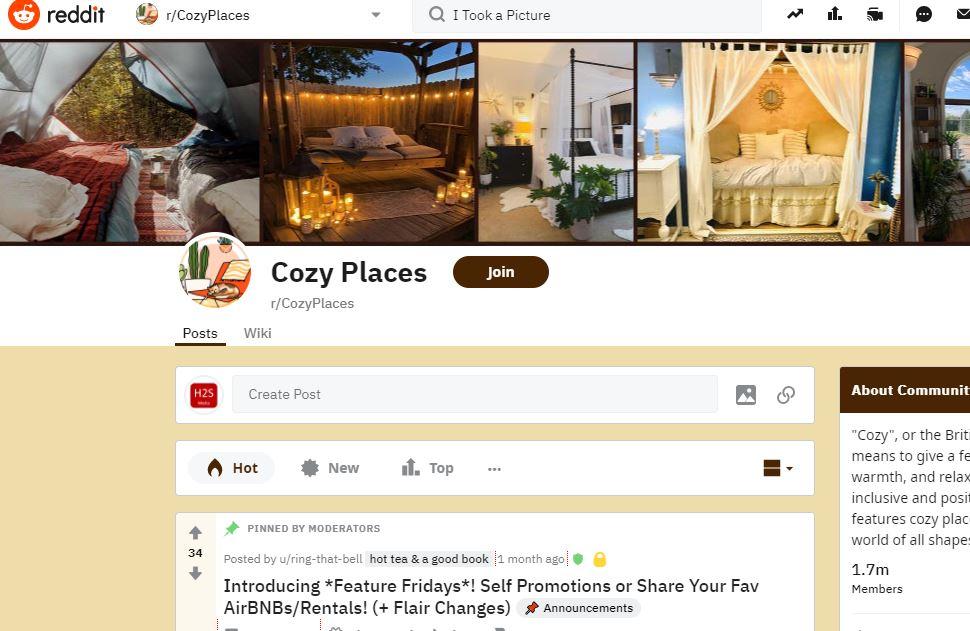 Cozy Places min