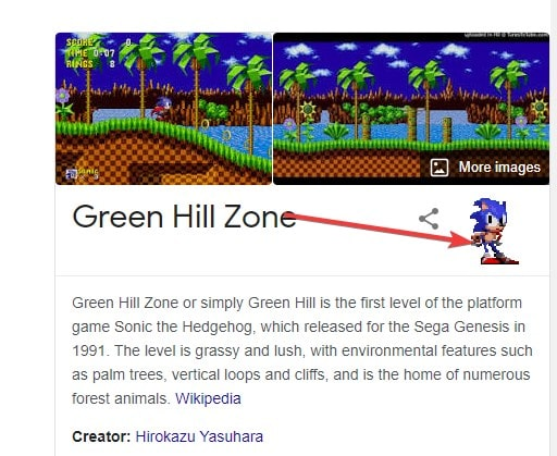 Green hill zone gaming easter