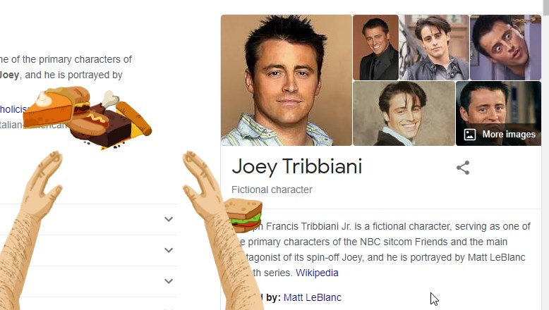 Joey Tribbiani on Google Easter