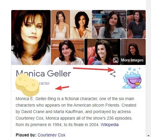 Monica Geller Friends Google easter