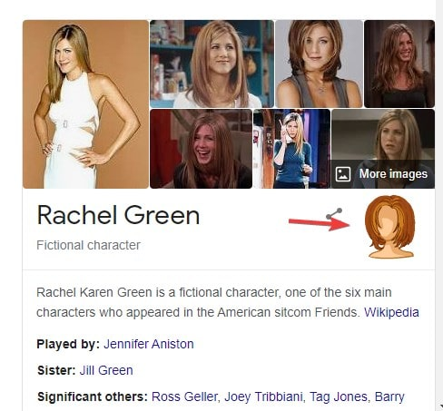 Rachel Green Easter egg