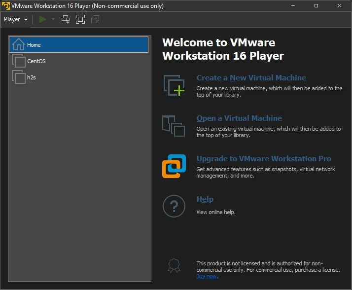 VMWare Workstation Player is free for home users