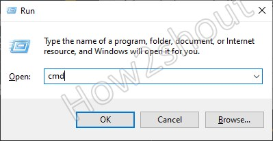 Command prompt using Run box