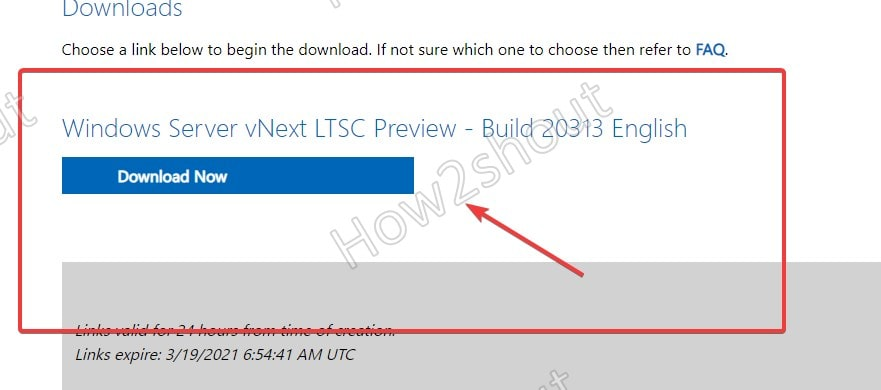 Download link to Windows 2022 preview server iso