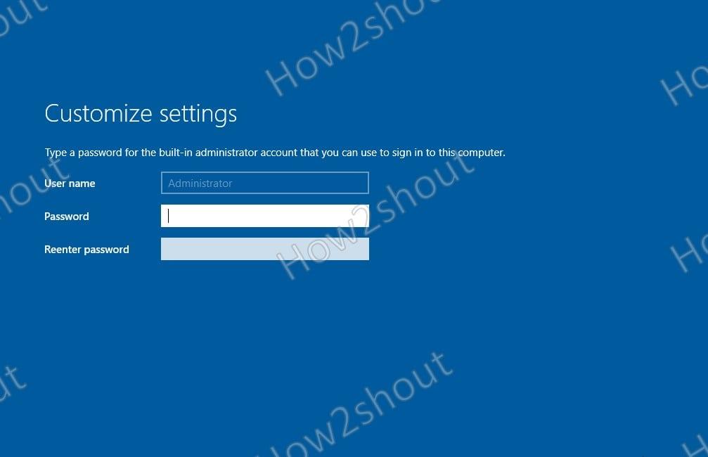 Set Admin Account