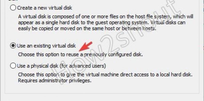 Use Existing Virtual Disk Vmware VDMK