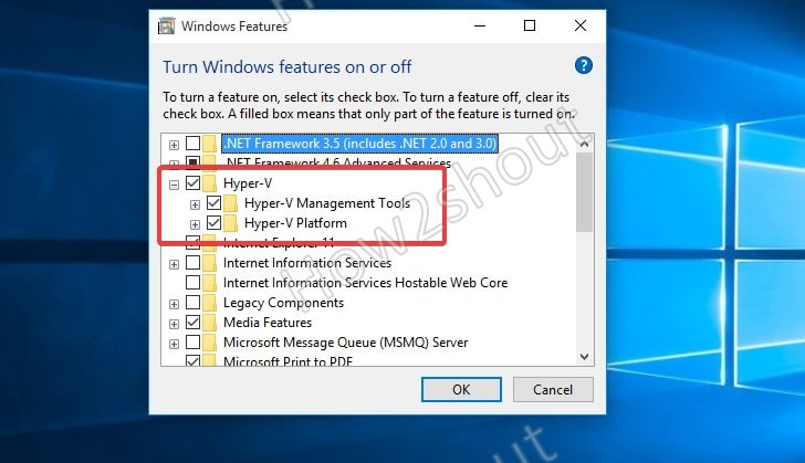 Check Windows 10 home Hypervisor feature is enabled or not