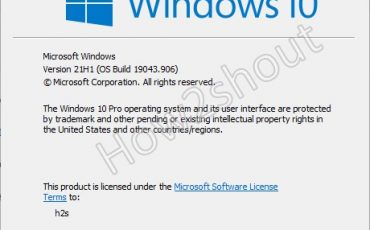Command to find WIndows 10 version and OS build