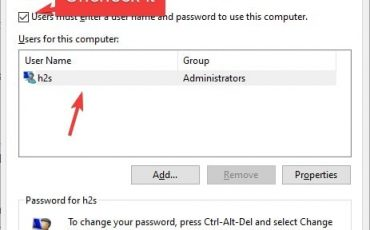 Disable Windows 10 password