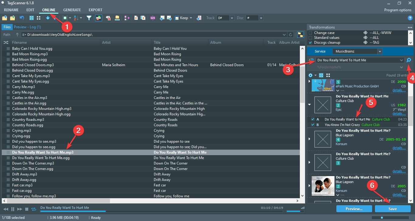 Download MEta Tag for SOngs online using TagScanner Software min