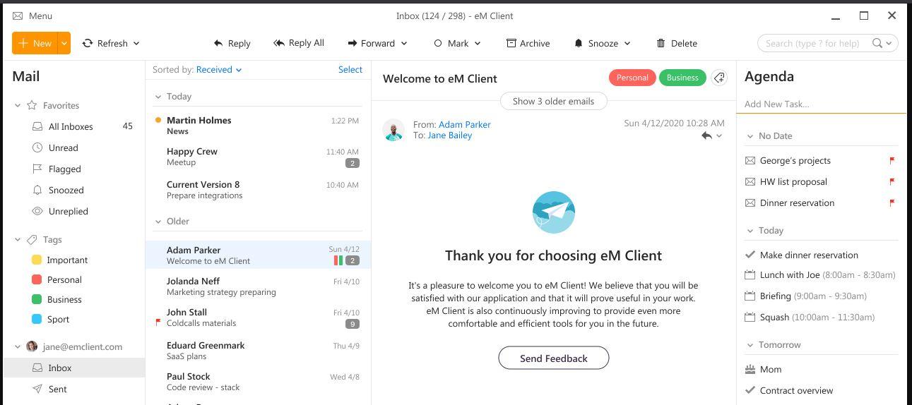 EM client for Windows 10 min