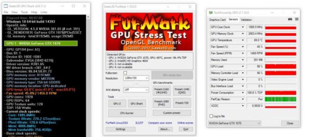 Furmark gpu testing too min