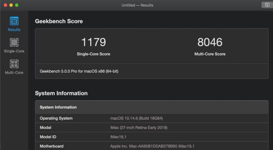 Geekbench for testing GPUs min