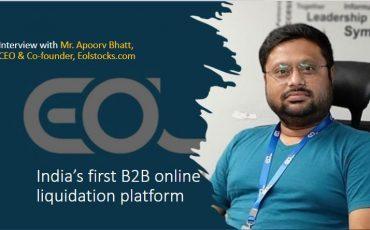 Indias first B2B online liquidation platform Mr. Apoorv Bhatt CEO Co founder Eolstocks.com Interview