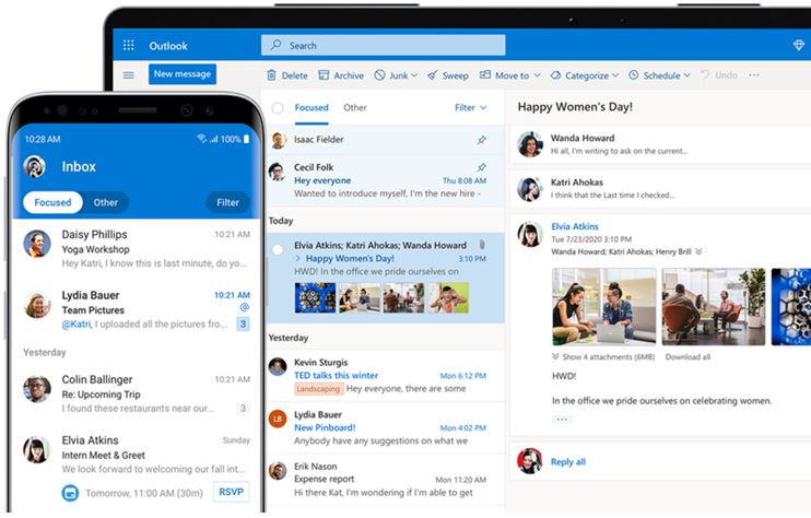 Microsoft Outlook client free and paid to install on Windows