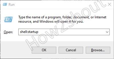 Open Startup folder