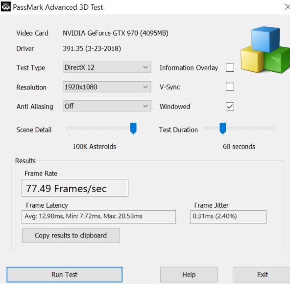Passmark Advance 3D Test min