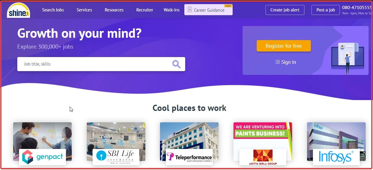 Shine top job search website portal to use in 2021