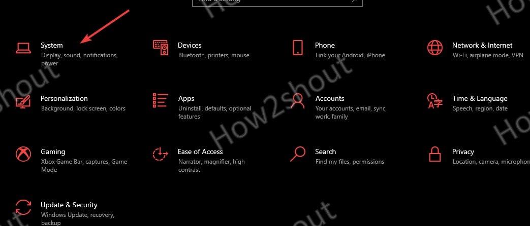 Shortcut to open Windows 10 Settings