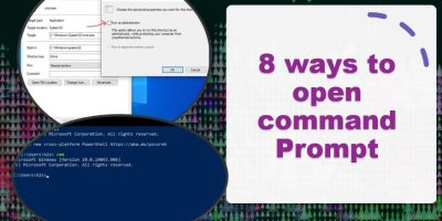 Shortcuts to open the Windows 10 or 7 command prompt