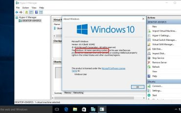 Steps to Activate Hyper v Feature on Windows 10 Home