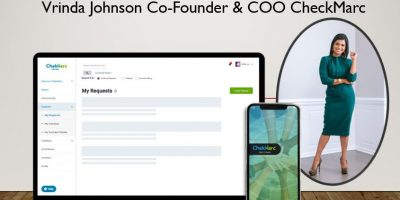Vrinda Johnson Co Founder COO CheckMarc social platfrom interview