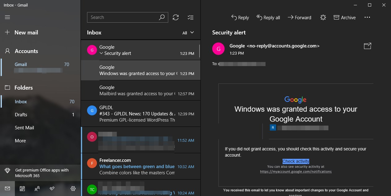 Windows 10 Default Mail app for free