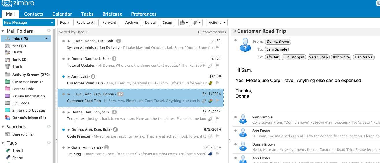 Zimbra open source best mail client for Windows 10 min