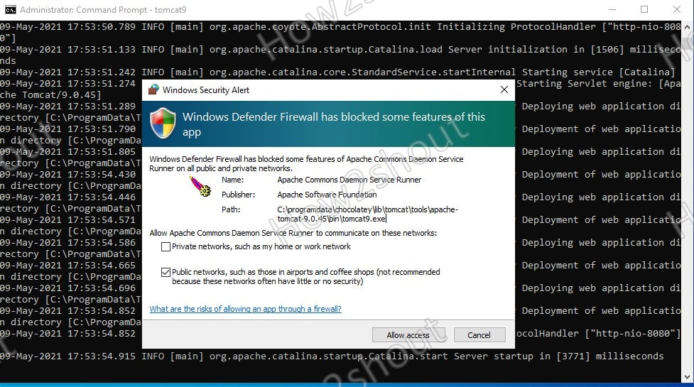 Allow the access to Tomcat web interface over network