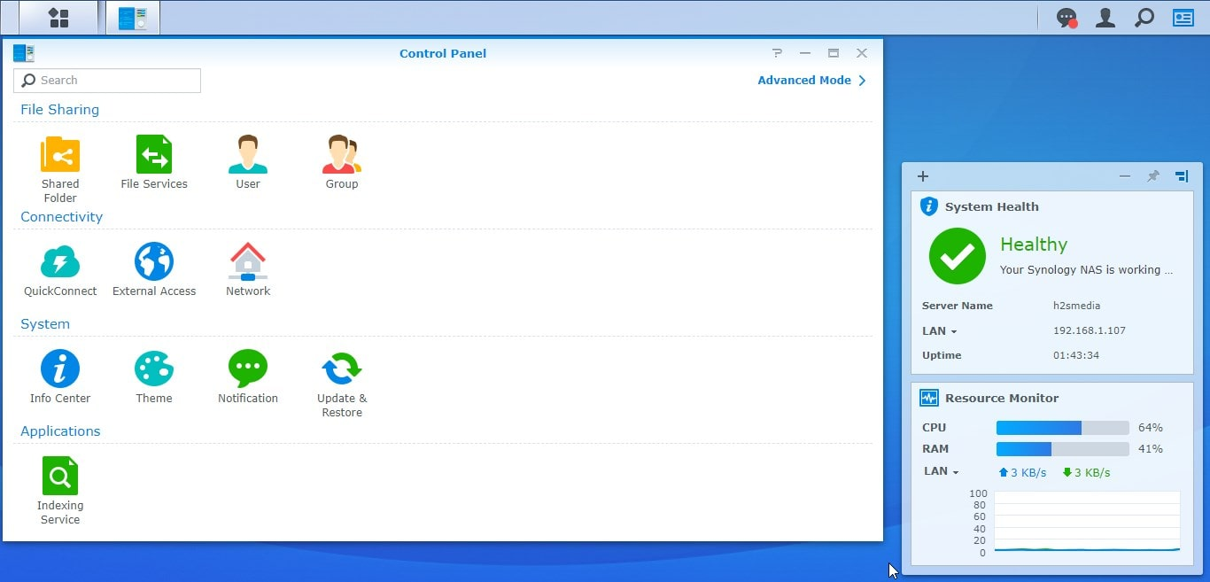 Control Panel Synology