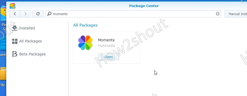 Synology Moments installed