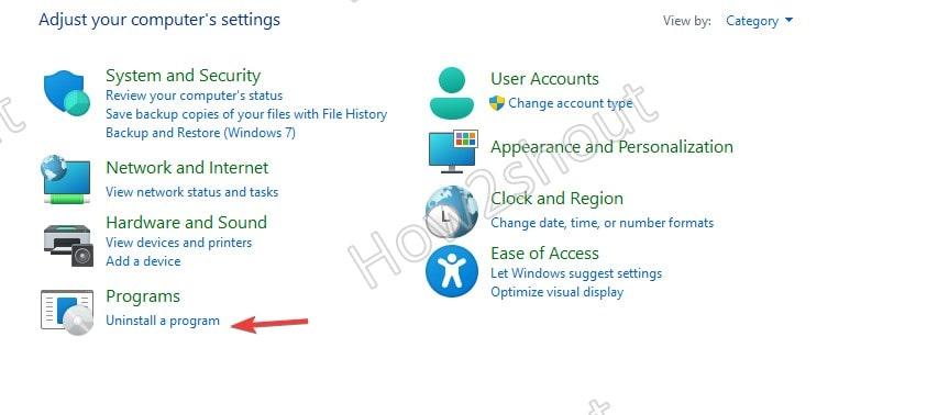 Uninstall Programs from Windows 10