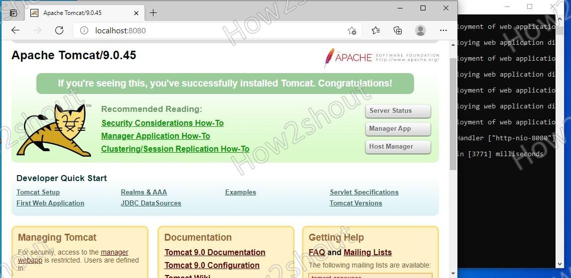 Web interface on localhost Tomcat