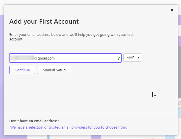 Add your Gmail account in Vivaldi Email client