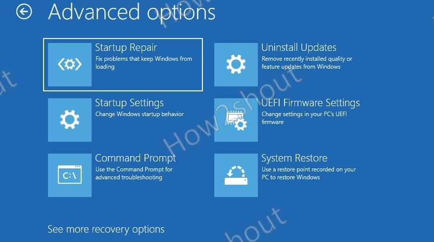 Advanced Startup Options
