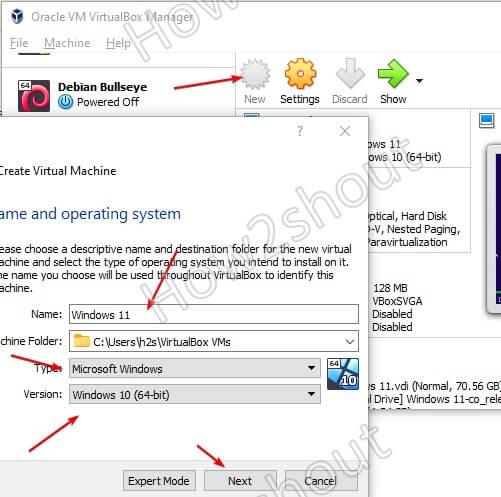 Create Windows 11 Virtualbox virtual machine