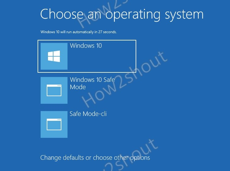 Enable Windows 10 Safe Mode Boot Entry