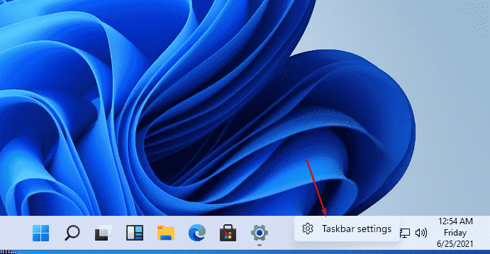 Open Windows 11 Task bar