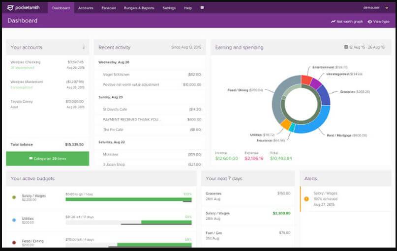PocketSmith – Smart budgeting personal finance software