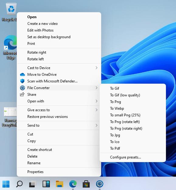 Preset File covnevertor configuration